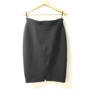 ESCADA by Margaretha Ley Sz 40 Black wool skirt